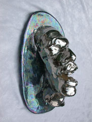 henry halem glass sculpture face mask