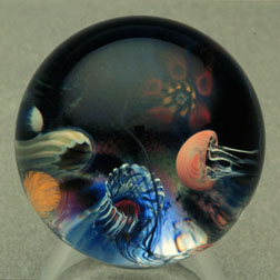 marco jerman jellyfish glass marble